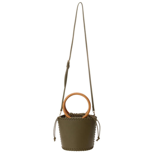 Ungrid(アングリッド)のungrid ウッドハンドルサークルBAG レディースのバッグ(ショルダーバッグ)の商品写真