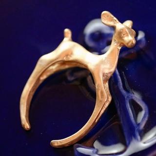 [人気]バンビのつかまりリング☆ゴールド(リング(指輪))