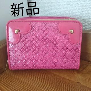 シマムラ(しまむら)の【新品】ハート ピンク 折り財布 (財布)