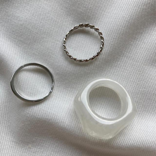 Ron Herman(ロンハーマン)のシルバー クリア リングセット レディースのアクセサリー(リング(指輪))の商品写真