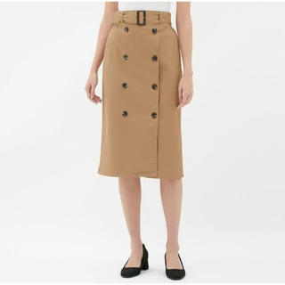ジーユー(GU)のトレンチタイトスカート(ひざ丈スカート)
