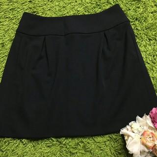 フォクシー(FOXEY)の未使用フォクシー レディストレッチスカート黒(ひざ丈スカート)