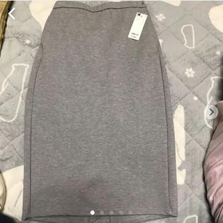 ジーユー(GU)のカットソータイトスカート 新品(ひざ丈スカート)