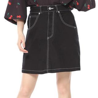 SPINNS - 黒 ミニスカート