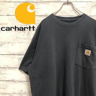 カーハート(carhartt)の【超人気】カーハート☆ロゴタグ XLサイズ相当グレーネイビーポケット半袖Tシャツ(Tシャツ/カットソー(半袖/袖なし))