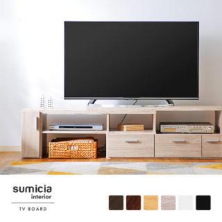 テレビ台 ローボード 伸縮 木製 テレビボード テレビラック TV台 コーナー(リビング収納)