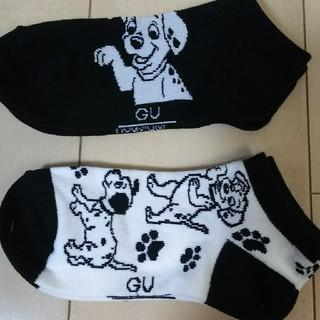 ディズニー(Disney)のGU 靴下 101匹わんちゃん ディズニー(その他)