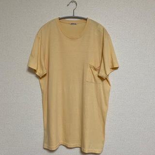 コモリ(COMOLI)の【定価6,800円】AURALEEシームレスポケットT YE サイズ4 17SS(Tシャツ/カットソー(半袖/袖なし))