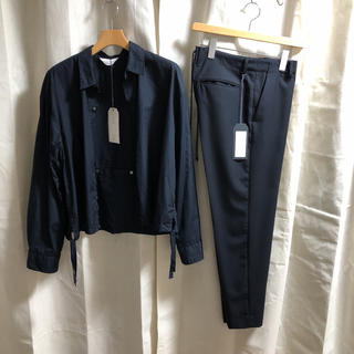 UNUSED - UNUSED FOR 1LDK -Navy Lace Up- 19ss タグ付き
