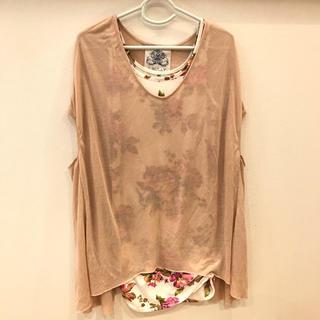 ロングTシャツ&花柄タンクトップ(Tシャツ/カットソー)