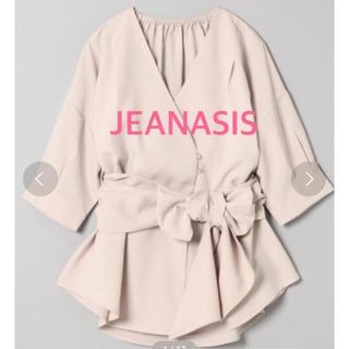 JEANASIS - ★新品未使用★ジーナシス リネンライクリボンブラウス