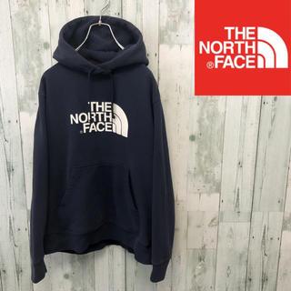 THE NORTH FACE - ノースフェイス  ビッグロゴパーカー ネイビー レディースM