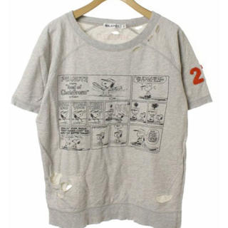 ミルクフェド(MILKFED.)の【限定🌱】MILKFED SNOOPY ダメージ スウェット半袖 Tシャツ(トレーナー/スウェット)