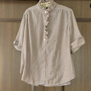 ロキエ(Lochie)のブラウンチェックシャツ(シャツ/ブラウス(長袖/七分))