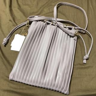 シマムラ(しまむら)のプリーツ 巾着 バッグ(ショルダーバッグ)
