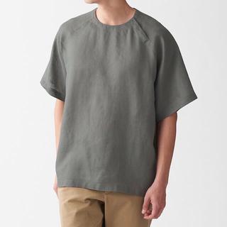 MUJI (無印良品) - MUJI(無印良品)フレンチリネン洗いざらしプルオーバー半袖シャツ L~XL