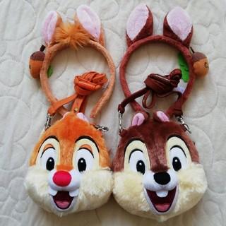 ディズニー(Disney)のディズニーリゾート チップ&デール カチューシャ&パスケースセット(カチューシャ)