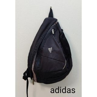 アディダス(adidas)のadidas 黒  ワンショルダー  バッグ ボディバッグ リュック(ボディーバッグ)