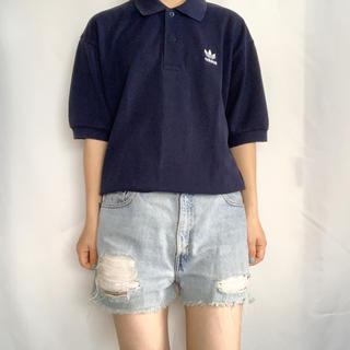 アディダス(adidas)のadidas 90s ロゴ刺繍ポロシャツ(ポロシャツ)