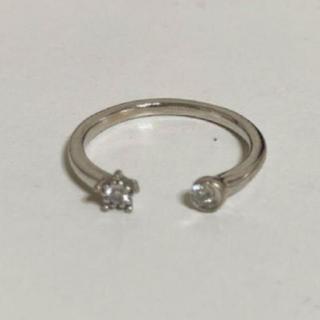 スタージュエリー(STAR JEWELRY)のStar Jewelry スター ムーン ダイヤ 0.05ct リング(リング(指輪))