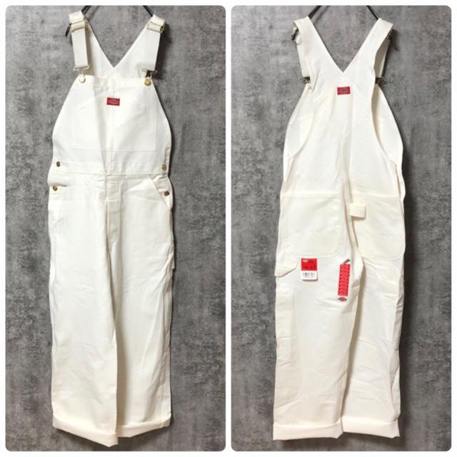Dickies(ディッキーズ)の【デッドストック】ディッキーズ☆フラッシャー付きUSA製ロゴタグオーバーオール メンズのパンツ(サロペット/オーバーオール)の商品写真