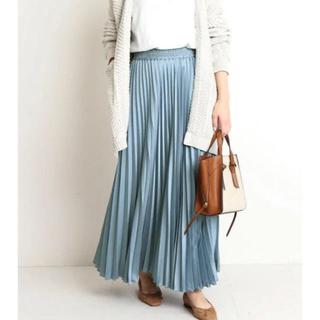 IENA SLOBE - Tシャツに合わせるだけでかわいい SLOBE IENA  サテンプリーツスカート