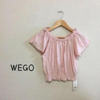 ウィゴー(WEGO)の【♡新品♡】リボンオフショルダー カットソー(カットソー(半袖/袖なし))