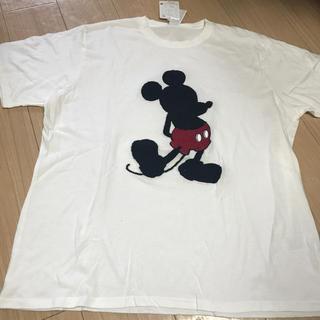 ディズニー(Disney)の新品タグ付 ミッキーマウス  シルエットTシャツ  5Lサイズ ビッグサイズ(Tシャツ/カットソー(半袖/袖なし))