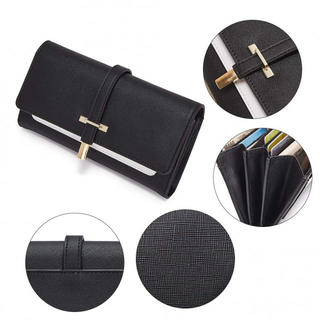 【新品】 長財布 カード入れ ウォレット ブラック(財布)