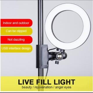 新品 大きな20cm LEDリングライト(自撮り棒)