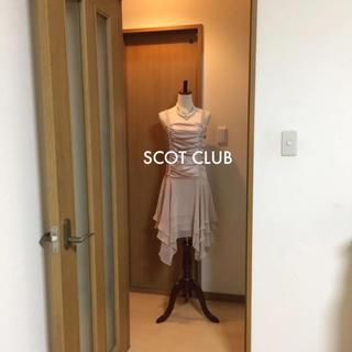 スコットクラブ(SCOT CLUB)の定価29500円 SCOT CLUBアシメントリードレス新品タグ付き(ミディアムドレス)