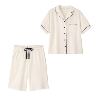 GU - GU×SABON パイルパジャマ(半袖) ホワイトS