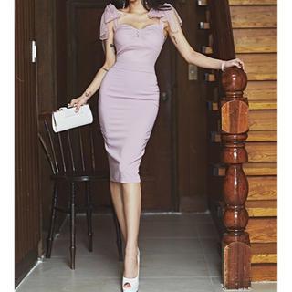 デイジーストア(dazzy store)の♡オーガンジーリボン セクシー ドレス♡(ナイトドレス)