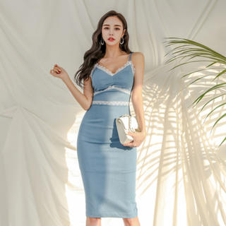 デイジーストア(dazzy store)の♡レース キャミ型 ドレス ワンピース♡(ひざ丈ワンピース)