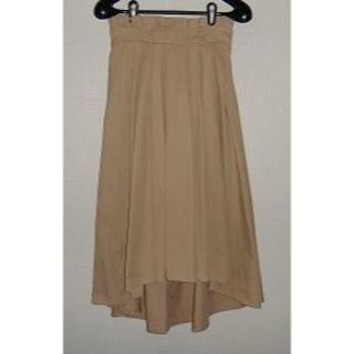 ミスティウーマン(mysty woman)の最終価格 mysty woman リボンベルト付きフィッシュテールスカート 新品(ひざ丈スカート)