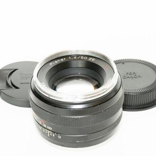 キヤノン(Canon)の銘玉 コシナ Carl zeiss Planar 50mm f1.4 ZE(レンズ(単焦点))