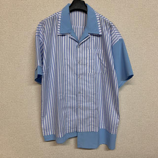 HARE - フェイクレイヤー ストライプシャツ ビッグシルエット メンズ 半袖シャツ