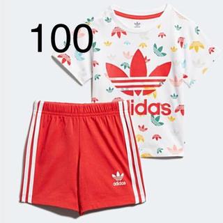 アディダス(adidas)のお値下げ中♪新品!アディダスキッズ♪セットアップ100cm(Tシャツ/カットソー)