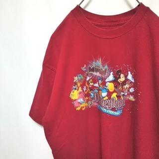 ディズニー(Disney)のDisney ディズニー フォトプリント ディズニーリゾート Tシャ      (Tシャツ/カットソー(半袖/袖なし))