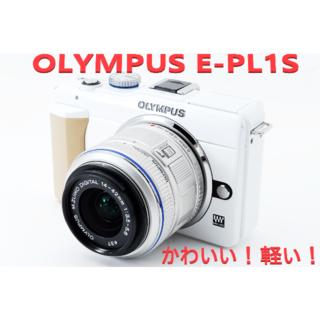 オリンパス(OLYMPUS)の❤PEN E-PL1s ホワイト❤スマホ転送可愛い❤4000円相当おまけ付(デジタル一眼)