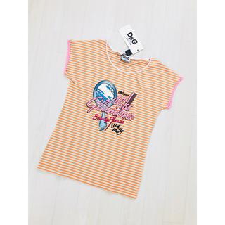 ドルチェアンドガッバーナ(DOLCE&GABBANA)の【新品】ドルチェアンドガッパーナ 半袖Tシャツ ボーダー 12(Tシャツ/カットソー)