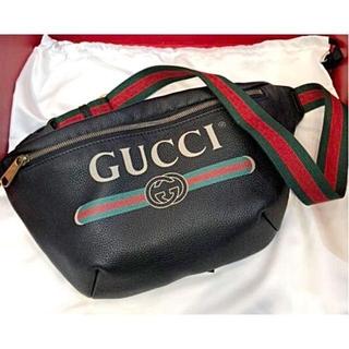 Gucci - 超美品☆グッチ シェリー レザー ベルトバッグ ヴィンテージロゴ