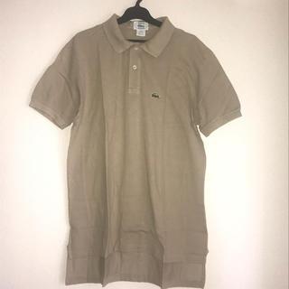 ラコステ(LACOSTE)のLACOSTE ラコステ コットン ポロシャツ ブラウン ベージュ アメリカ製(ポロシャツ)