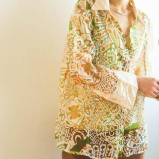 ロキエ(Lochie)のMARTE vintage シースルー グラデーション シャツ (シャツ/ブラウス(長袖/七分))