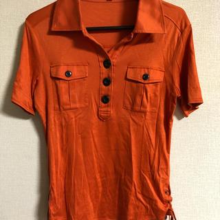 アルファキュービック(ALPHA CUBIC)のさらさらオレンジポロシャツ(ポロシャツ)