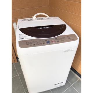 シャープ(SHARP)の【美品】SHARP 6.0㌔ 全自動洗濯機  洗浄済 給水・排水ホース付き(洗濯機)
