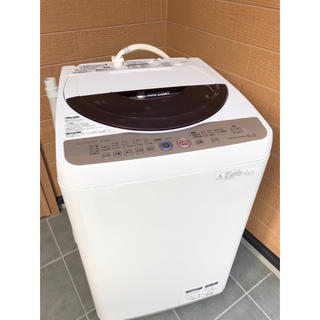 SHARP - 【美品】SHARP 6.0㌔ 全自動洗濯機  洗浄済 給水・排水ホース付き