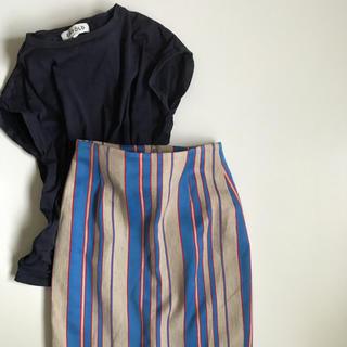 ユナイテッドアローズ(UNITED ARROWS)の美品 UNITED ARROWS リネン スカート(ひざ丈スカート)