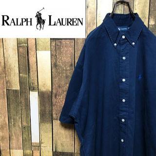 ラルフローレン(Ralph Lauren)の【ラルフローレン】ワンポイント刺繍ロゴ半袖☆チノボタンダウンシャツ 90s(シャツ)
