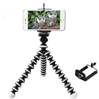 iphone用三脚ホルダ デジカメスタンド スマホ対応 モバイル クネクネ三脚(自撮り棒)